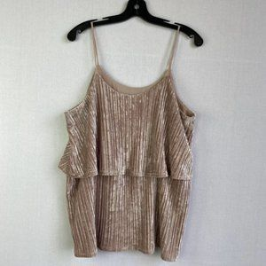 ANTHROPOLOGIE RO&DE Tiered Velvet Camisole